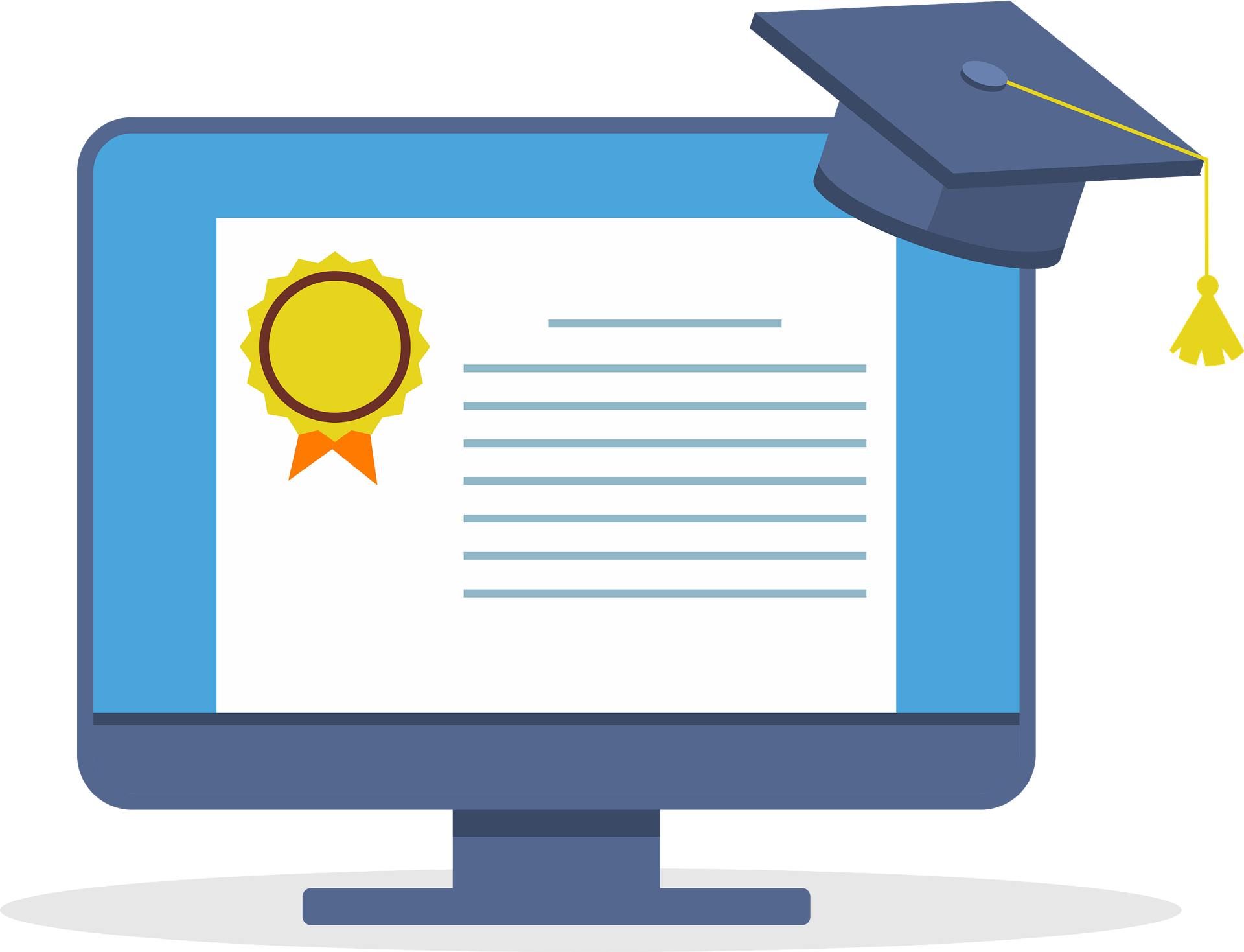 Online LMS course certificate
